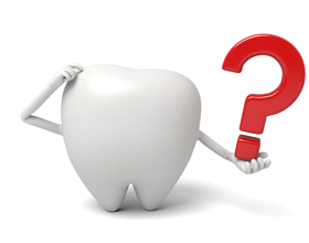 tooth and question mark