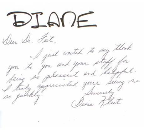 Letter from Diane