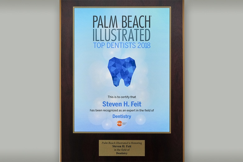Palm Beach Illustrated top dentist award
