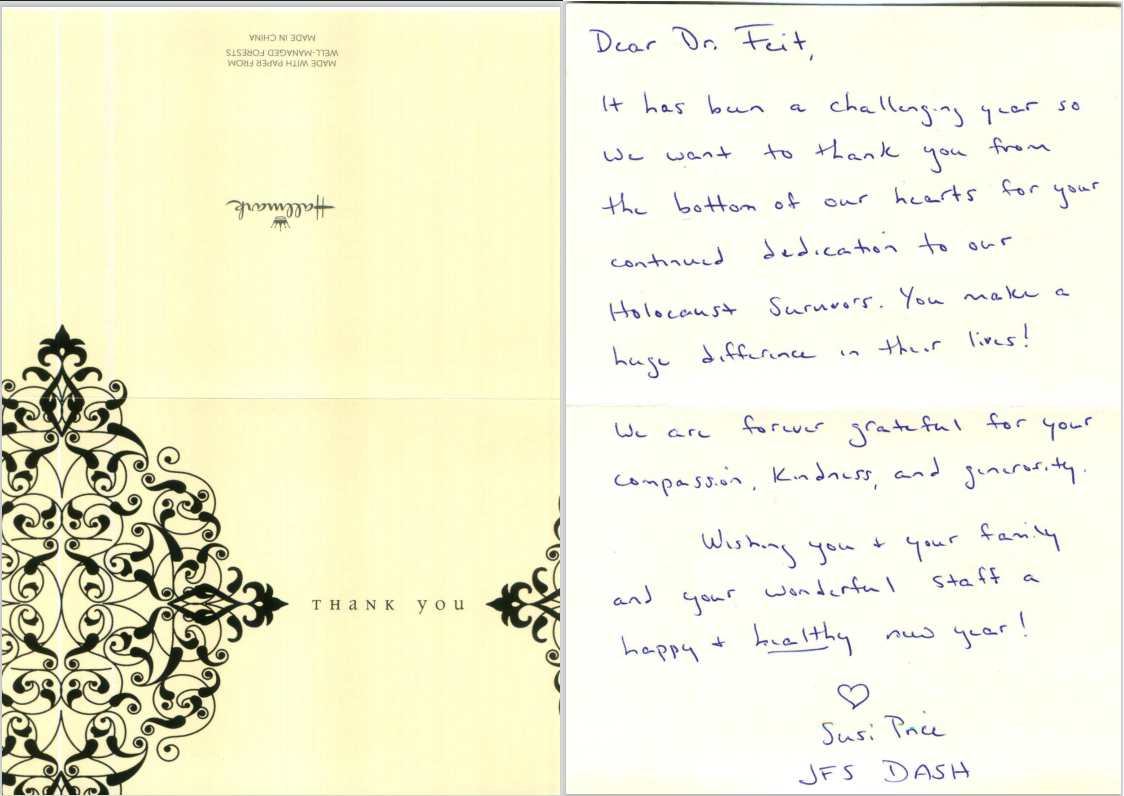 Letter from Susie Price